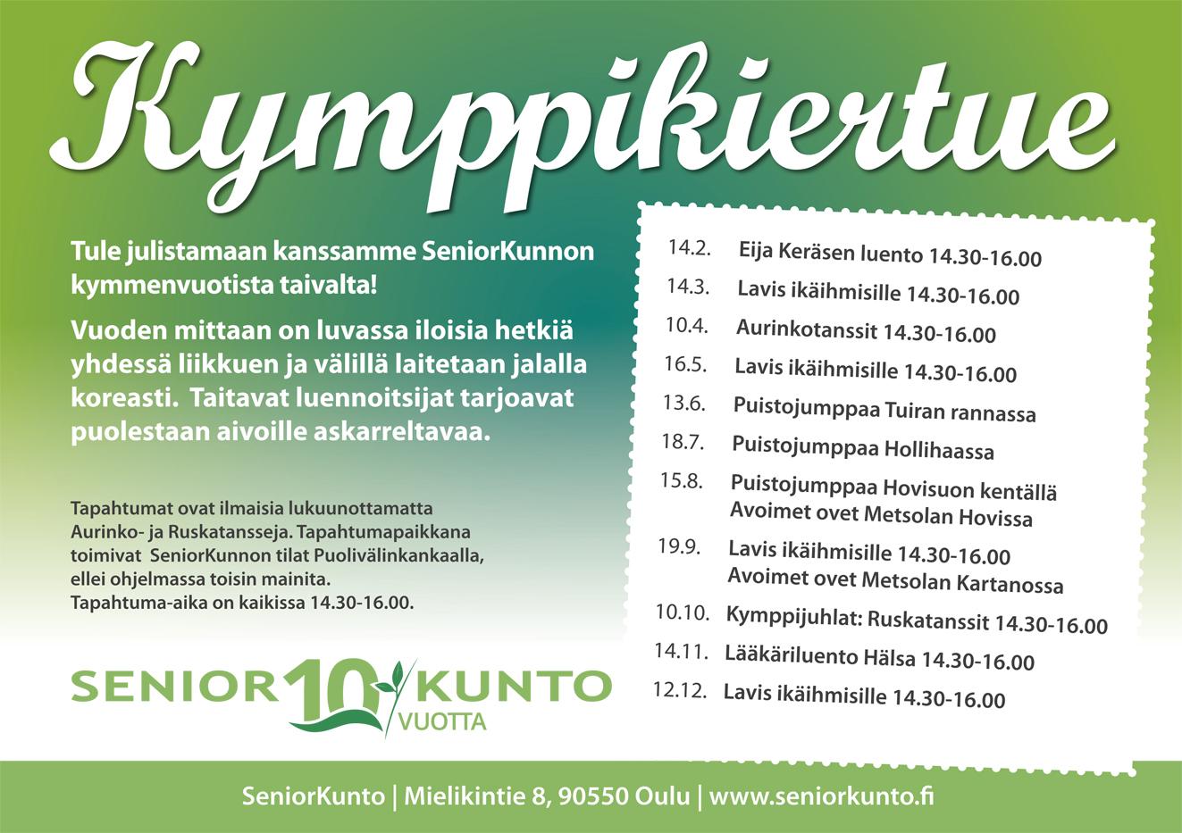 KymppiKiertue ilmaiset tapahtumat Oulu